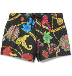 Versace Short-Length Printed Swim Shorts