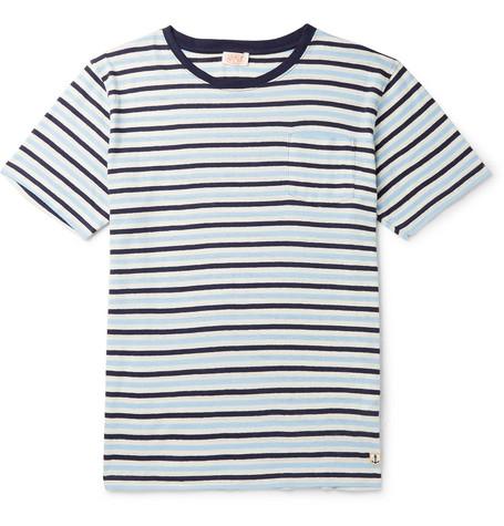 b5d85d6033 Armor Lux - Héritage Striped Cotton and Linen-Blend T-Shirt