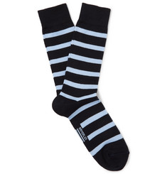 Armor Lux Striped Stretch Cotton-Blend Socks