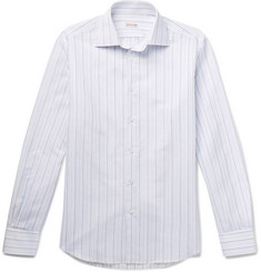 Caruso - Striped Cotton and Linen-Blend Shirt