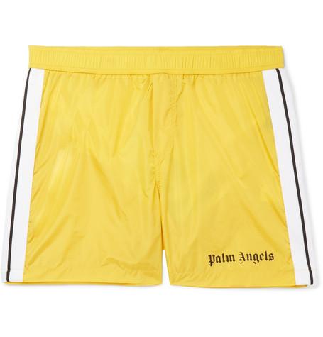 0dd9d3c583662 Palm Angels - Mid-Length Striped Swim Shorts