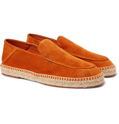 Loro Piana - Seaside Walk Collapsible-Heel Suede Espadrilles