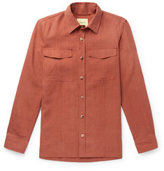 De Bonne Facture Explorer Brushed-Linen Overshirt