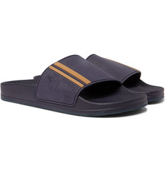 Brunello Cucinelli Striped Rubber Slides