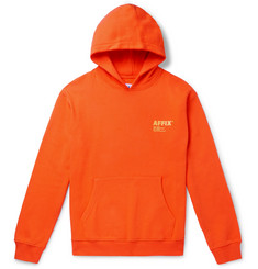 AFFIX Logo-Print Fleece-Back Cotton-Jersey Hoodie