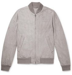 Valstar Slim-Fit Unlined Suede Bomber Jacket