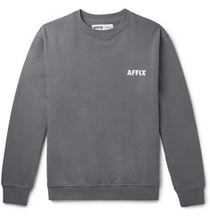 AFFIX Logo-Embroidered Fleece-Back Cotton-Jersey Sweatshirt