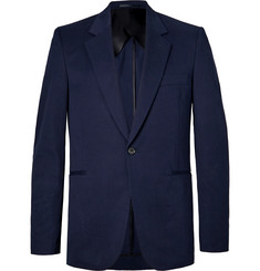 The Row - Navy Michel Slim-Fit Cotton and Cashmere-Blend Blazer