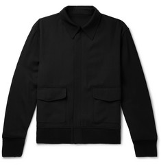 The Row Wes Virgin Wool-Blend Twill Bomber Jacket
