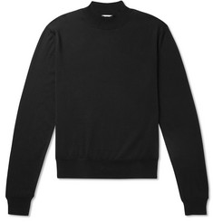 The Row Sean Slim-Fit Silk and Cotton-Blend Rollneck Sweater
