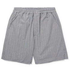 Très Bien Wide-Leg Prince of Wales Checked Cotton Shorts