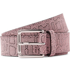 Très Bien - Snake-Print Leather Belt