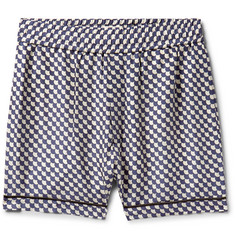 You As Henry Piped Printed Silk Shorts