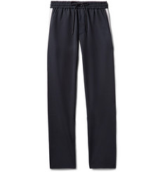 You As - Syed Slim-Fit Tapered Webbing-Trimmed Woven Drawstring Trousers