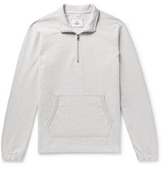 Reigning Champ Loopback Cotton-Jersey Half-Zip Sweatshirt