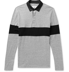Reigning Champ Striped Cotton-Jersey Polo Shirt