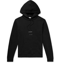 Logo-print Loopback Cotton-jersey Hoodie - Black