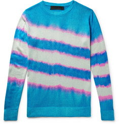 The Elder Statesman Tie-Dyed Silk Sweater