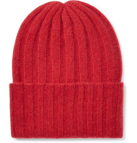 1bc5b096bb5 The Elder Statesman - Short Bunny Echo Ribbed Cashmere Beanie
