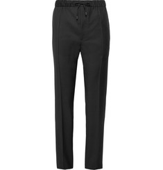 Fendi Slim-Fit Wool-Twill Drawstring Trousers