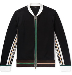 Fendi Logo-Trimmed Cotton-Blend Bomber Jacket