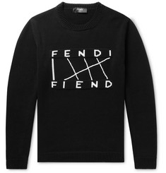 Fendi Logo-Jacquard Cotton Sweater