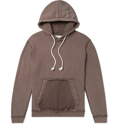 Maison Margiela Distressed Loopback Cotton-Jersey Hoodie