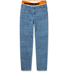 Maison Margiela Shell-Trimmed Denim Jeans