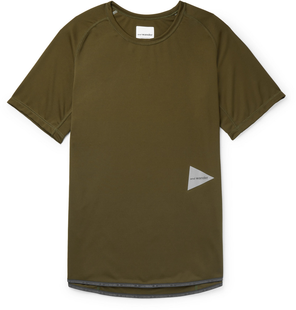 Logo-print Jersey T-shirt - Army green
