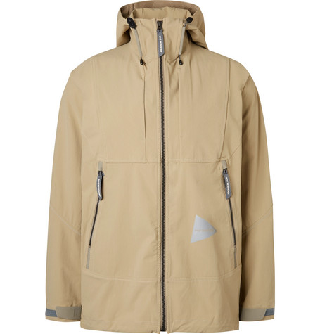AND WANDER | And Wander - Waterproof Nylon-blend Shell Hooded Jacket - Beige | Goxip