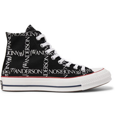 Converse + JW Anderson 1970s Chuck Taylor All Star Logo-Printed Canvas High-Top Sneakers
