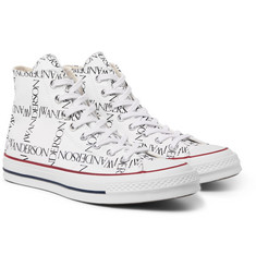Converse - + JW Anderson 1970s Chuck Taylor All Star Logo-Printed Canvas High-Top Sneakers