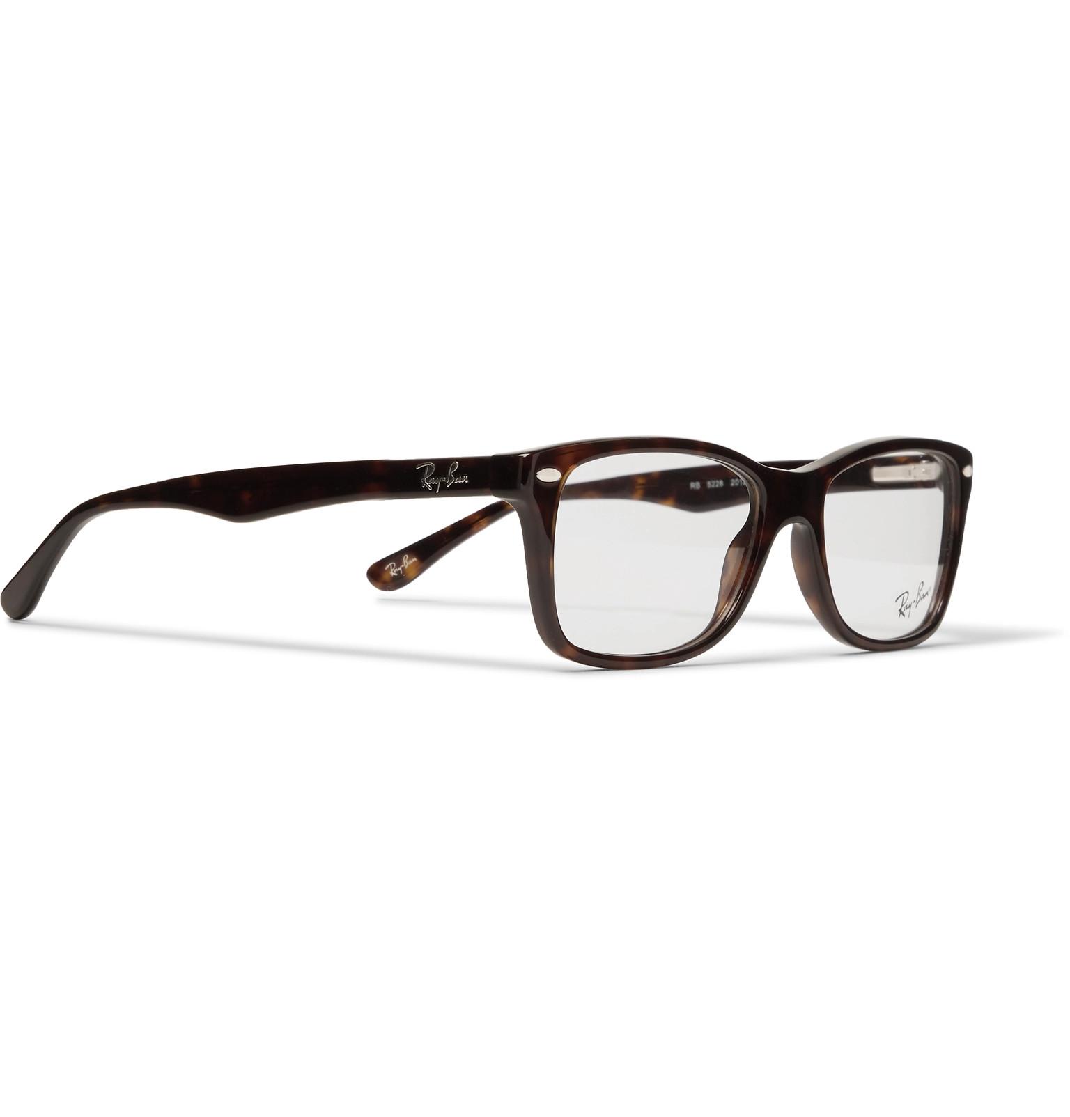 f5264c5b2a Ray-Ban - Square-Frame Tortoiseshell Acetate Optical Glasses