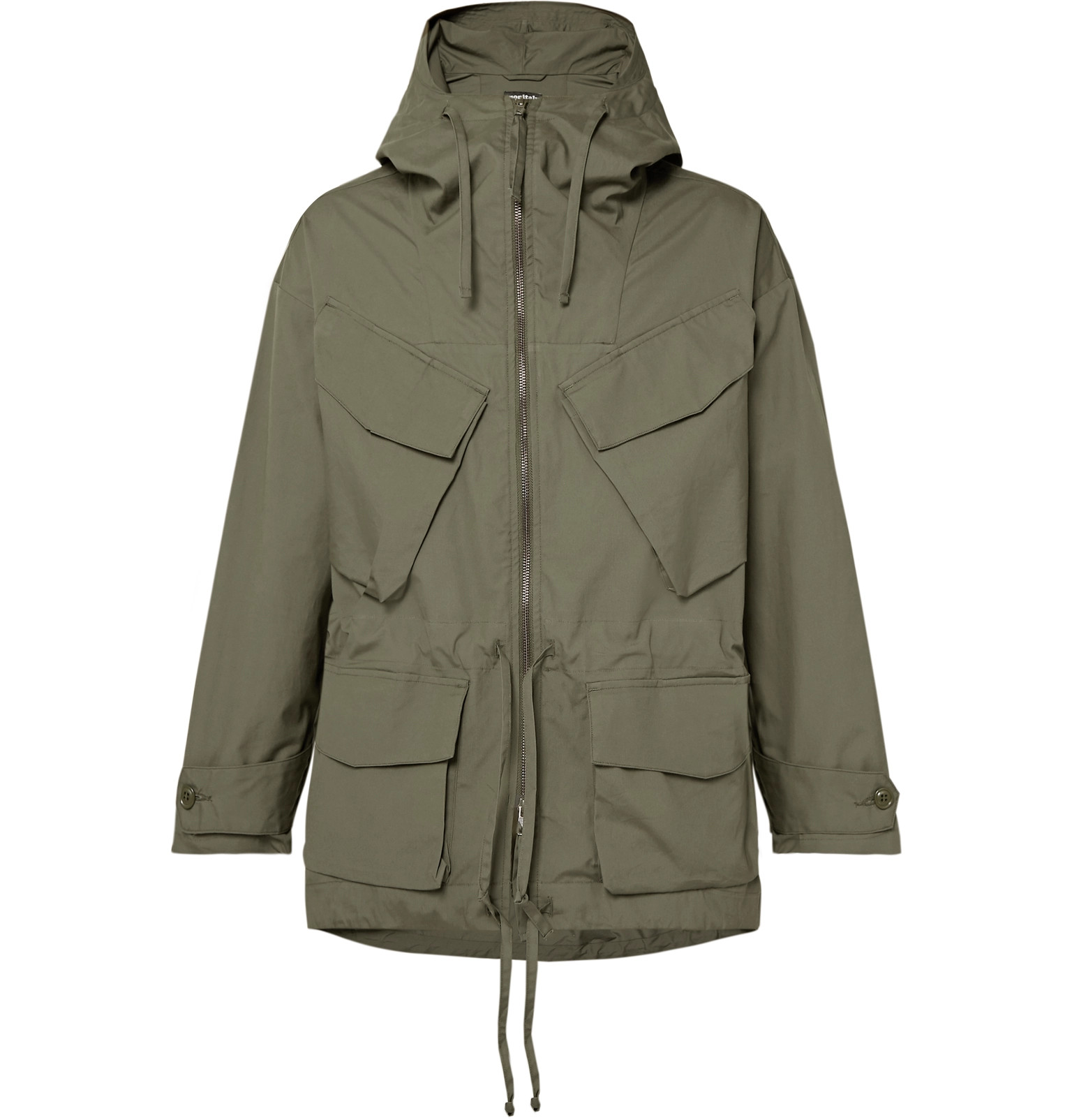 34402cd76c Monitaly - Expedition Water-Resistant Cotton-Poplin Hooded Field ...