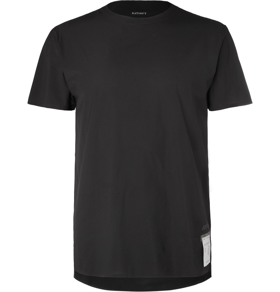 Justice Stretch-jersey T-shirt - Black