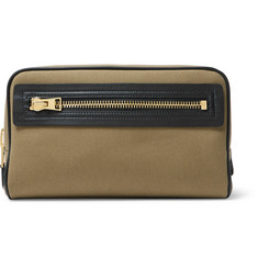 TOM FORD - Leather-Trimmed Canvas Wash Bag