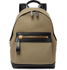 TOM FORD Cotton-Canvas and Leather Backpack