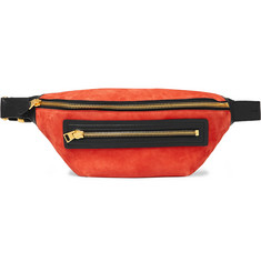 TOM FORD Leather-Trimmed Suede Belt Bag