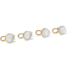 TOM FORD - 18-Karat Gold Mother-of-Pearl Shirt Studs