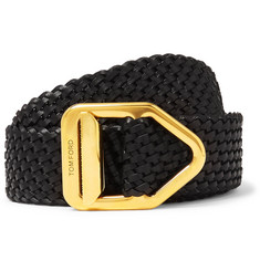 TOM FORD - 3cm Woven Leather Belt