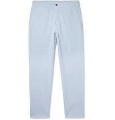 Ermenegildo Zegna Stretch Cotton and Silk-Blend Twill Drawstring Trousers