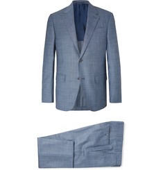 Ermenegildo Zegna Blue Slim-Fit Wool, Linen and Silk-Blend Suit