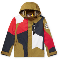 Moncler Genius 2 Moncler 1952 Baudrier Panelled Cotton Hooded Jacket