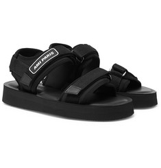 AMI Logo-Detailed Neoprene Sandals