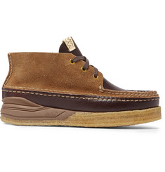 visvim - Canoe Moc II Cross-Grain Leather and Suede Boots