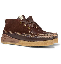 visvim Canoe Moc II Leather and Suede Boots