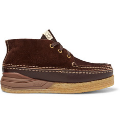 Canoe Moc Ii Leather And Suede Boots - Dark brown