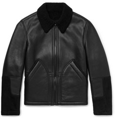 Mr P. Shearling-Trimmed Leather and Suede Jacket
