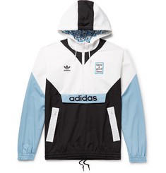 adidas Consortium - + Have a Good Time Logo-Embroidered Colour-Block Nylon Hooded Jacket