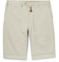 Isaia Slim-Fit Cotton-Blend Twill Bermuda Shorts